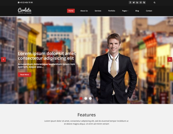 Corlate – Free Responsive Bootstrap HTML Template