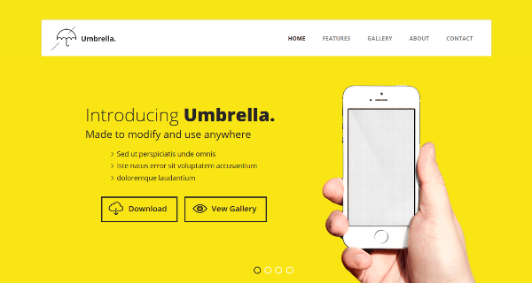 Umbrella – Free Flat Bootstrap Responsive template