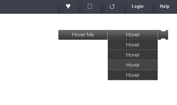 CSS3 Scroll Drop Down Menu