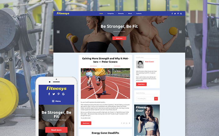 Fitnesys - Fitness Blog GPL WordPress Theme