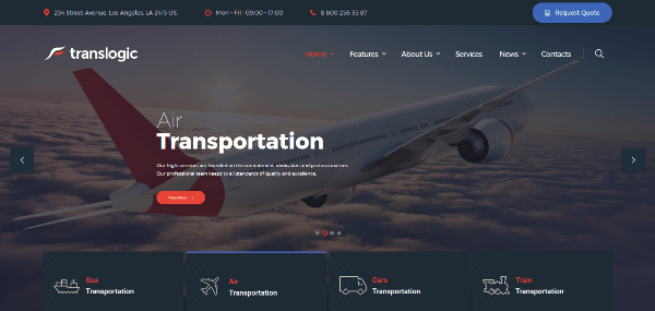 50+ Best Transportation WordPress Themes 2017