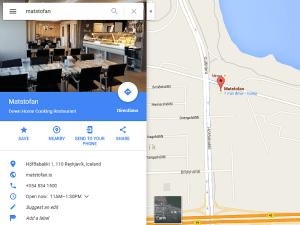 Matstofan.is Google Maps skjámynd