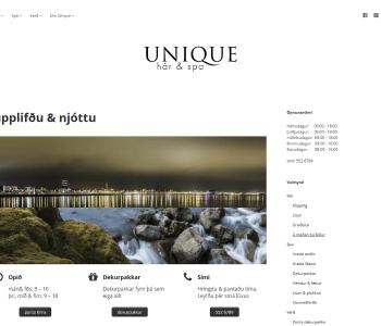 Unique.is forsíða