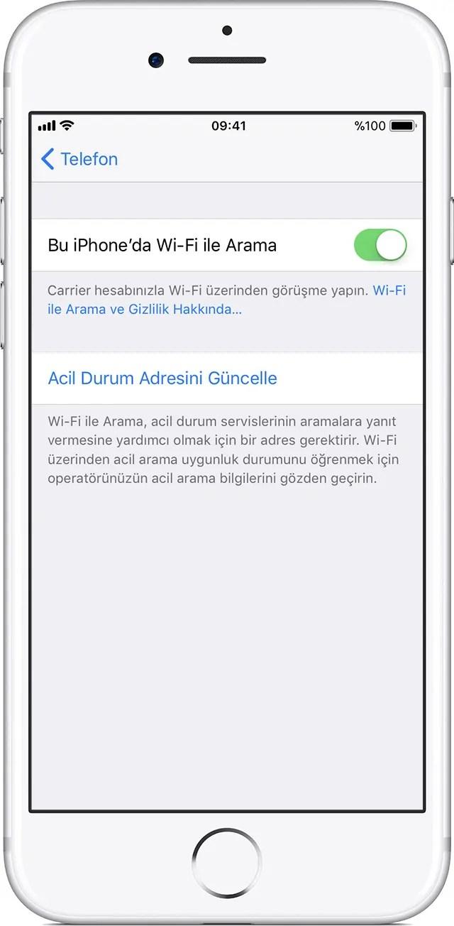 iphone wifi ile arama 1