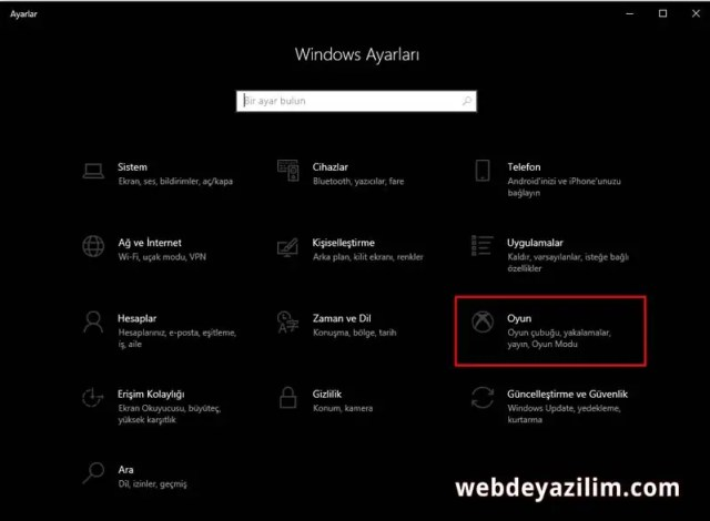 Windows 10 Ekran Videosu Kaydetme
