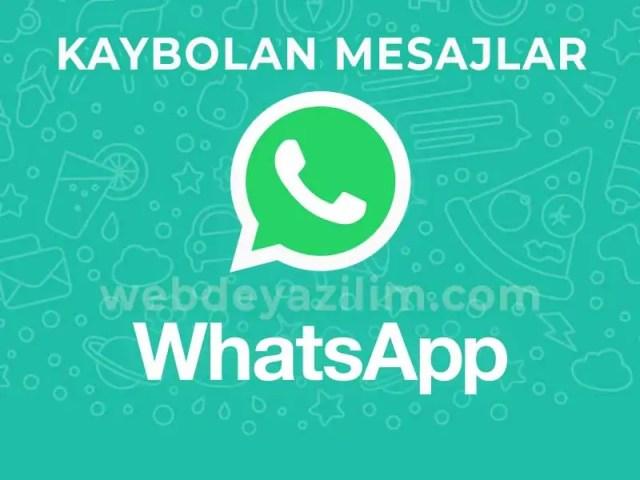 WhatsApp Kaybolan Mesaj