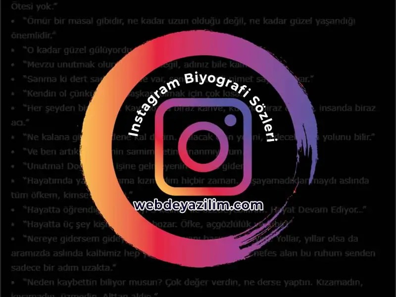 Instagram Biyografi Sözleri