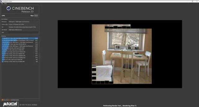 Cinebench Ekran Kartı Testi Programi