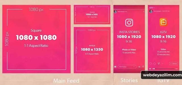 Instagram Paylaşım Boyutları