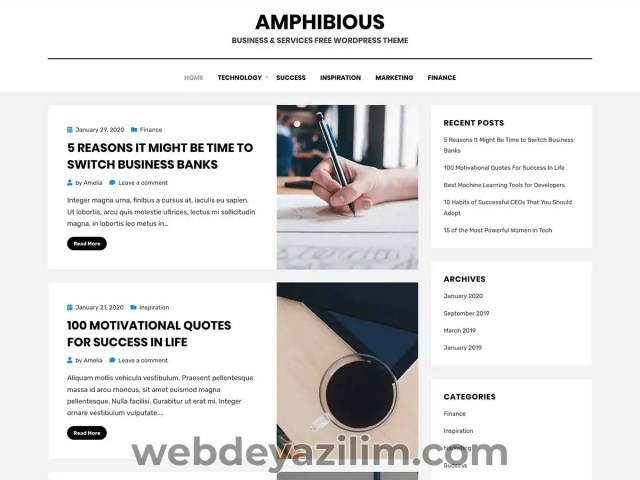 Amphibious WordPress Teması