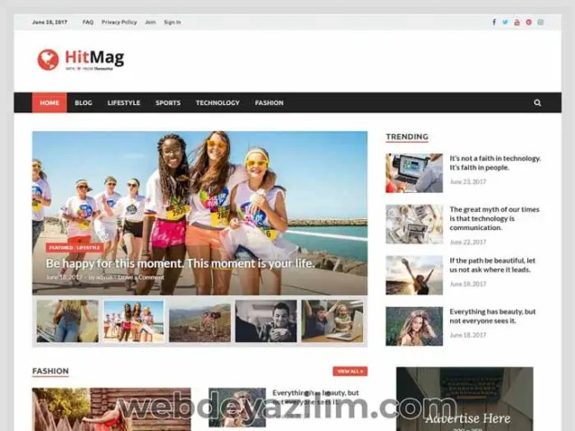 Hitmag Ücretsiz WordPress Magazin Teması
