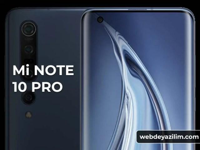 Xiaomi Mi Note 10 Pro Özellikleri ve Fiyatı