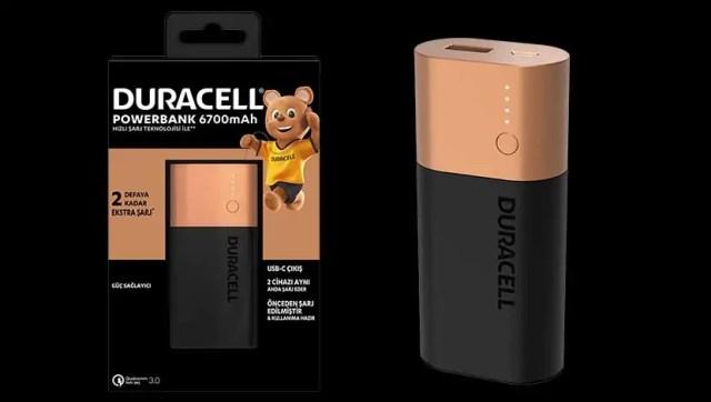 Duracell powerbank 6700 mAh