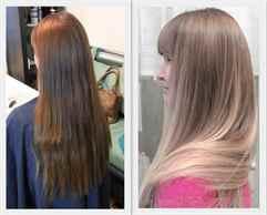 Тонирование волос: фото до и после для блондинок, брюнеток ...