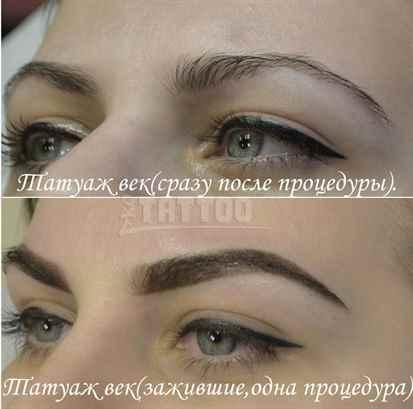 как заживает перманентный макияж бровей