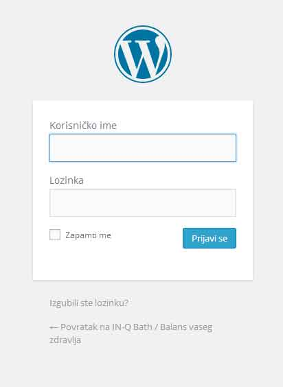 Wordpress tutorial -prijava na wordpress