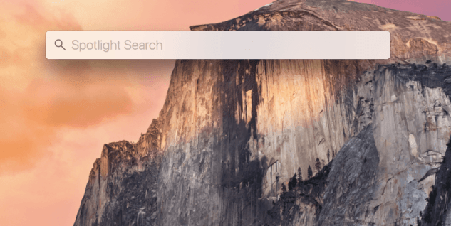 mac spotlight search