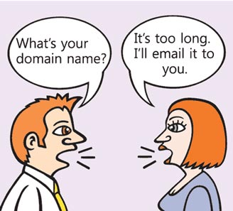 The most common domain name length in relation to .com registrations is around 12-13 characters; and containing 2 words. This can give you a bit of an idea of how long your domain should be.