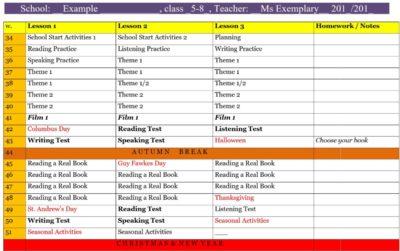example plan