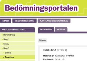 Diagnostic Material in Sweden