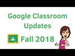 Google Classroom Updates Fall 2018 - YouTube