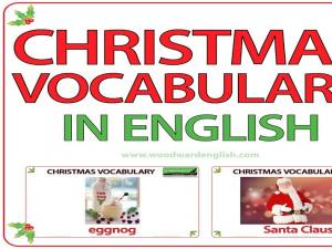 Christmas Vocabulary in English - ESL Words associated with Christmas - YouTube