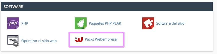 cPanel - Principal webempresa