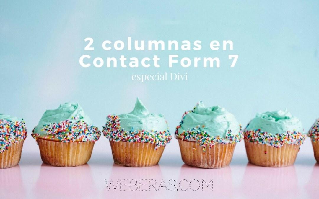 Poner dos columnas en Contact Form 7 (responsive) [HTML + CSS]