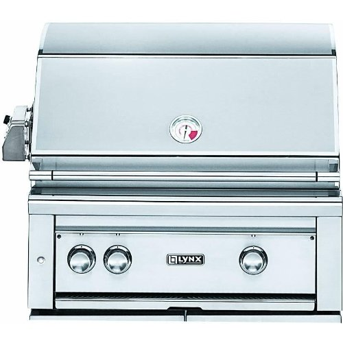 Lynx L30PSR-2-NG Built-In Natural Gas Grill with Pro Sear Burner and Rotisserie, 30-Inch