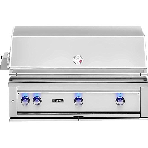 Lynx L42PSR-2-NG Built-In Natural Gas Grill with Pro Sear Burner and Rotisserie, 42-Inch