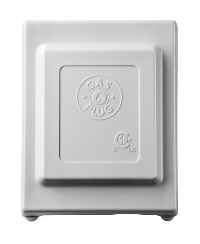 Gas Plug G0101-5G-50 Gas Outlet Box with 1/2-Inch Inlet and 3/8-Inch Outlet, Grey PVC Enclosure