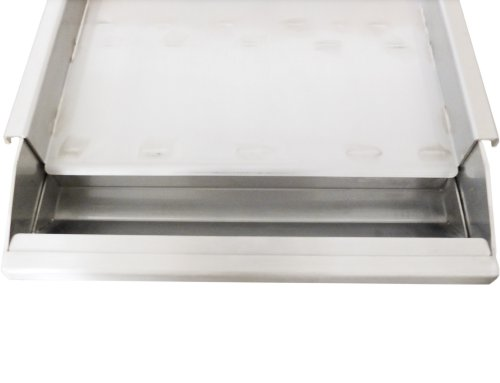 Sunstone SUNGD13 13 Gauge 304 Stainless Steel Griddle with Removable Tray, 13-Inch