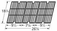 Music City Metals 63123 Gloss Cast Iron Cooking Grid Set Replacement for Select Gas Grill Models by BBQ Pro, Charbroil and Others