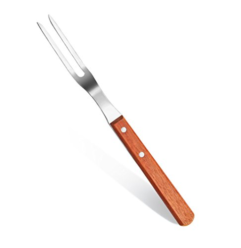 New Star Foodservice 38224 Wood Handle Barbecue Fork, 13-Inch