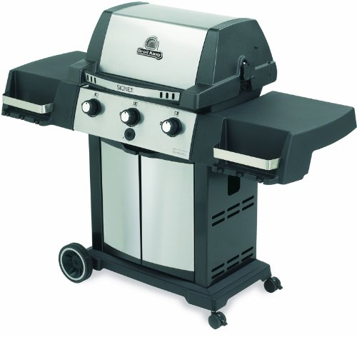Broil King 986557 Signet 20 Natural Gas Grill, Stainless Steel/Black