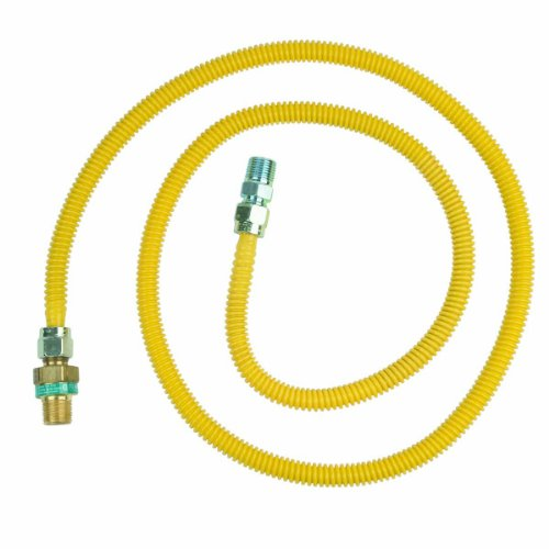 BrassCraft CSSD44E-72 P 1/2-Inch Outer Diameter Safety Plus Gas Appliance Connector with Excess Flow Valve