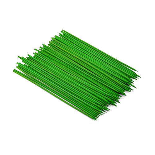 Farberware 5130247 100 Count BBQ Colored Bamboo Skewers, 8-Inch, Green