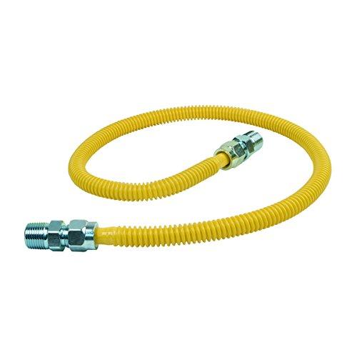 BrassCraft CSSD44-36 P 1/2-Inch MIP x 1/2-Inch MIP x 36-Inch ProCoat Gas Appliance Connector with  1/2-Inch OD