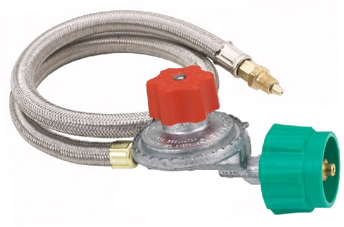 Bayou Classic M5HPR ADJUSTABLE 0-5 PSI Regulator with 36″ Stainless Steel Hose
