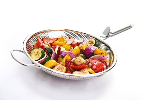 GrillPro 98138 Stainless Steel Perforated Grilling Wok