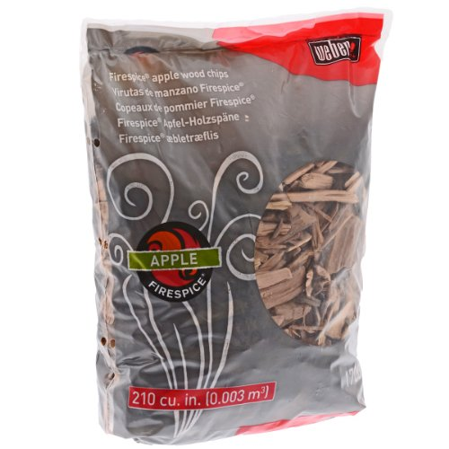 Weber 17004 Apple Wood Chips, 3-Pound