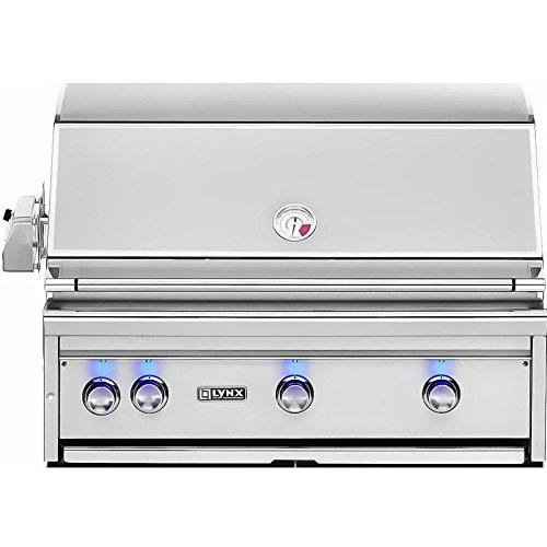 Lynx L36PSR-2-NG Built-In Natural Gas Grill with Pro Sear Burner and Rotisserie, 36-Inch