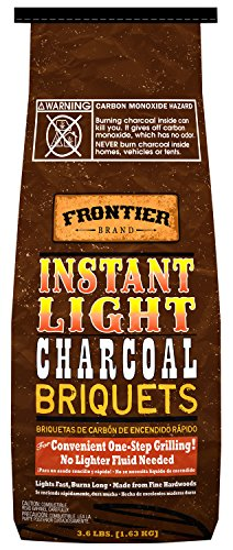 Frontier CBI36 3.6-Pound Instant Light Charcoal Briquets
