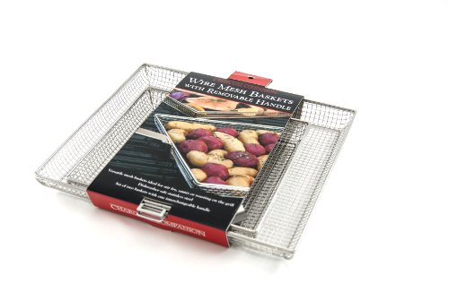 Charcoal Companion Mesh Baskets (Set of 2) w/Removable Handle (Small/Large) – CC3120