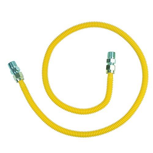 BrassCraft CSSD44-48 P 1/2-Inch MIP x 1/2-Inch MIP x 48-Inch ProCoat Gas Appliance Connector with  1/2-Inch OD