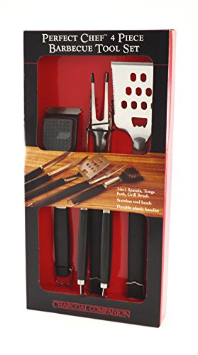 Charcoal Companion Perfect Chef Barbecue Tool Set (4-Piece) – CC1005
