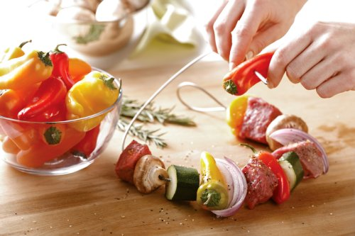 Fire Wire Stainless Steel Flexible Grilling Skewer, Set of 2