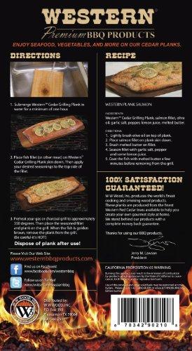 WESTERN 90210 Cedar Grilling Planks
