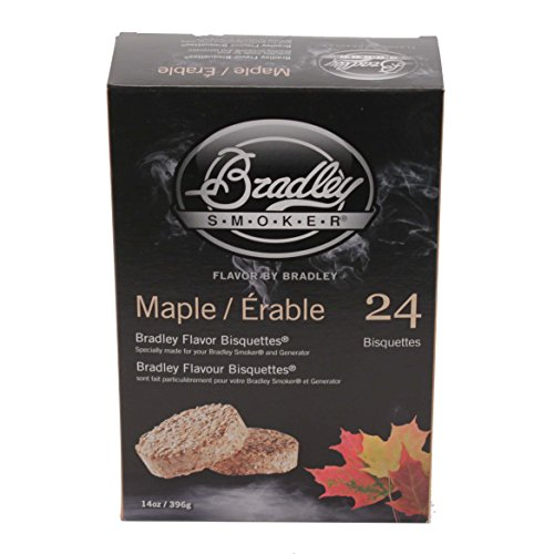 Bradley Smokers BTMP24 Maple Bisquettes Smoker, 24-Pack