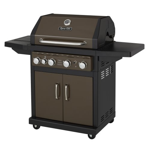 Dyna-Glo Bronze 60,000 BTU 4-Burner Propane Gas Grill with Side Burner